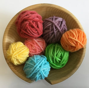Hand Dyed Baby Cakes 100% Wool Yarn, 3 Ply