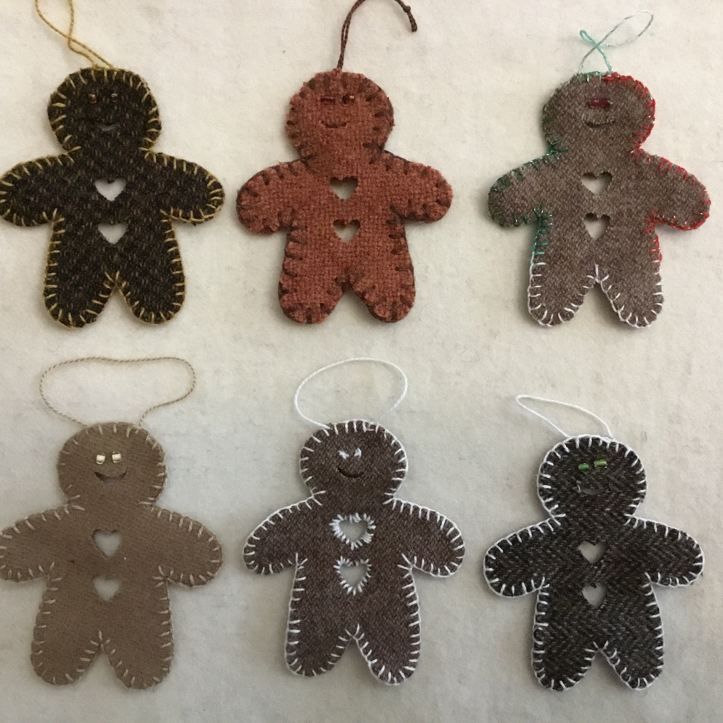 Wool Gingerbread Decorations