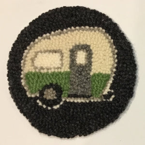 Green Camper Mug Rug - Oxford Punch Needle Kit