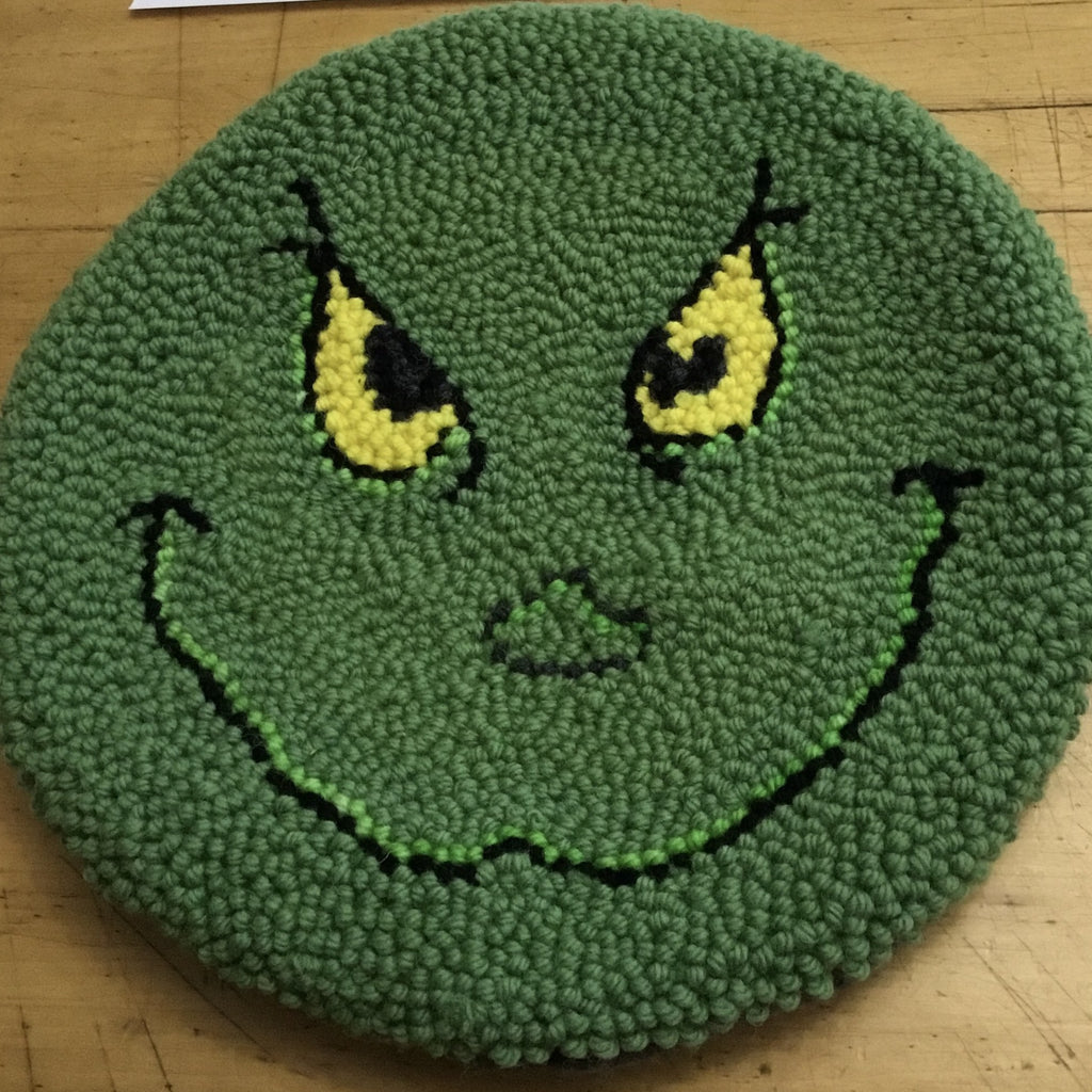 Grinch Wool Punched - Chair Pad