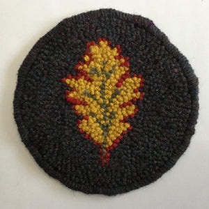Oak Leaf Mug Rug - Oxford Punch Needle Kit