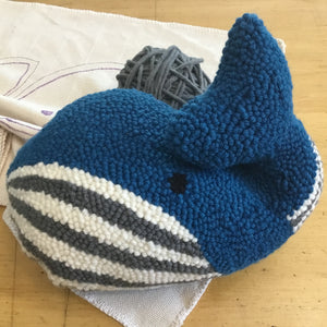 Whale - Rug Punched Pillow Kit