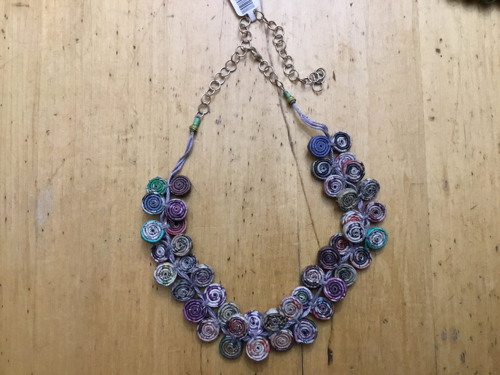 Recycled Paper Necklace2