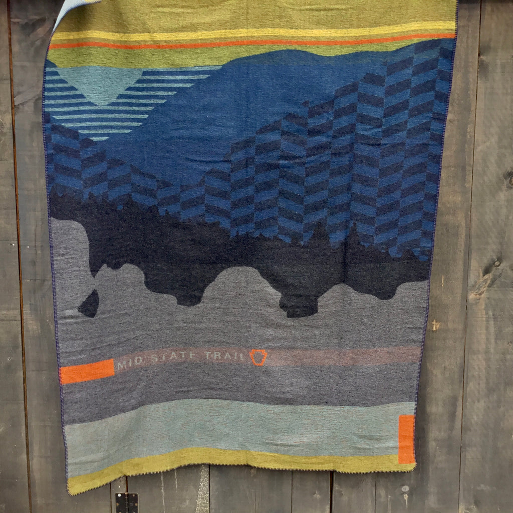 Mid State Trail Pennsylvania Wool Blanket/Throw