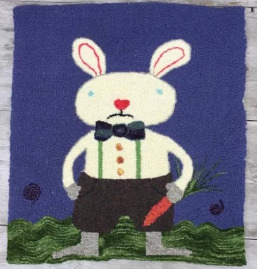 Rabbit Punched Rug