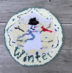 Snowman Punched Rug