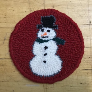 Snowman Mug Rug - Oxford Punch Needle Kit