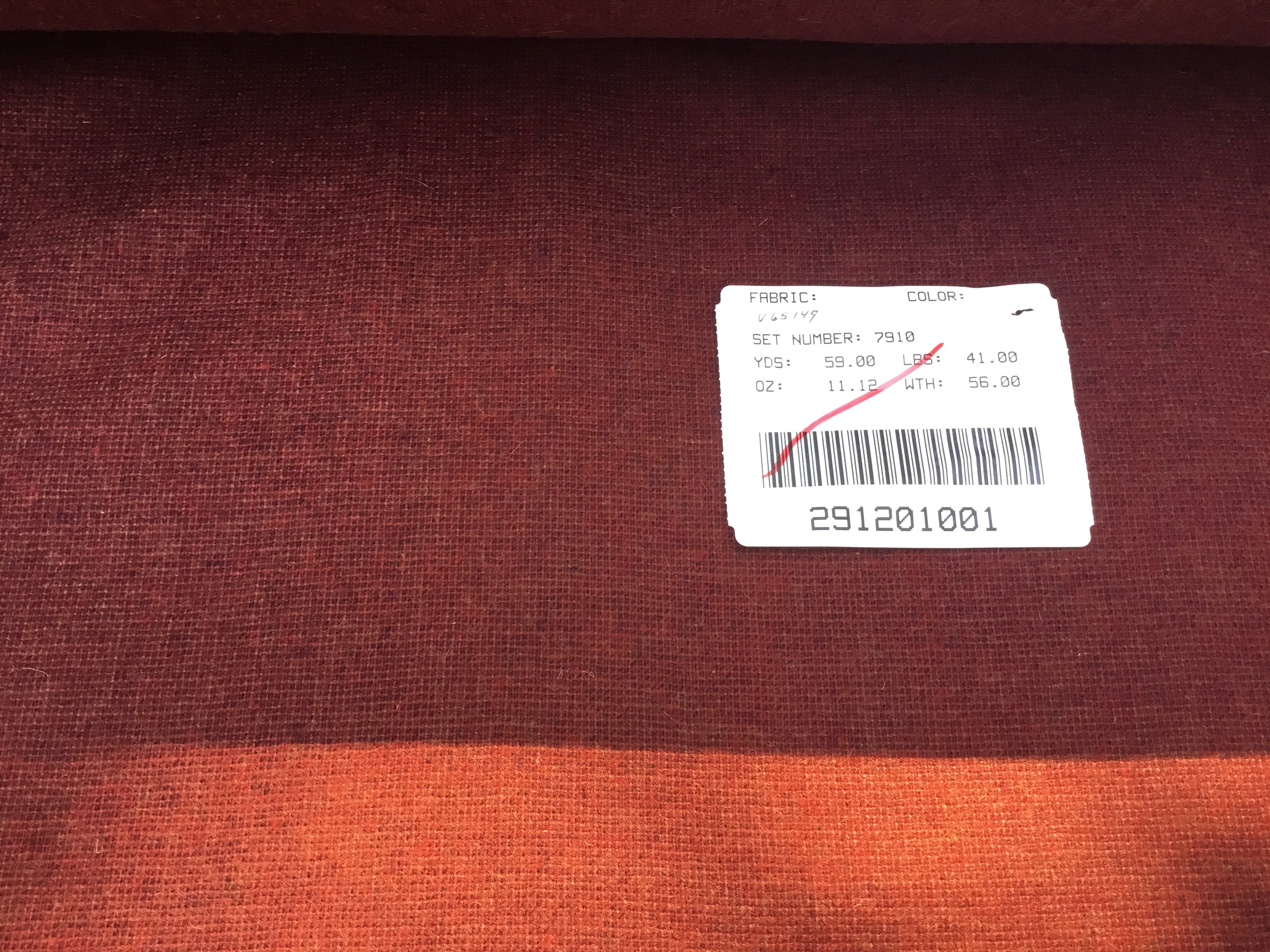 Wool  Fabric -Burgundy