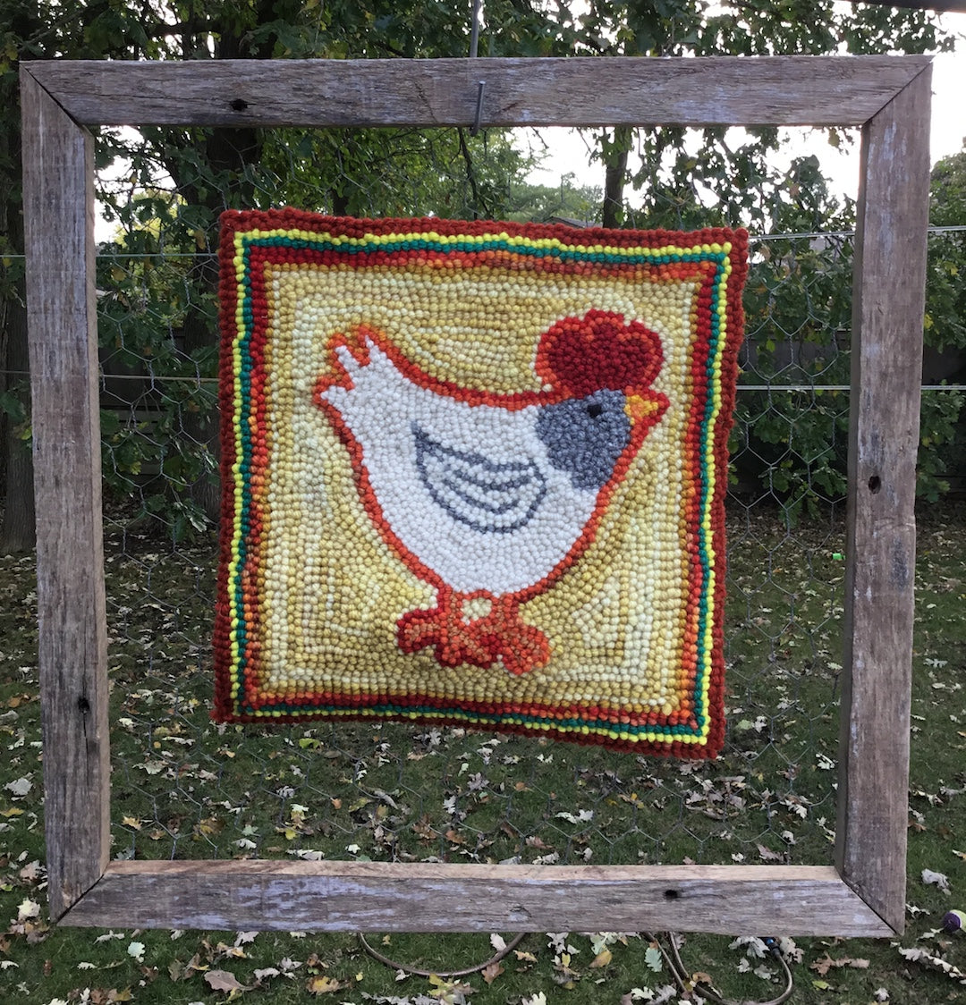 Chicken Rug Wall Hanging