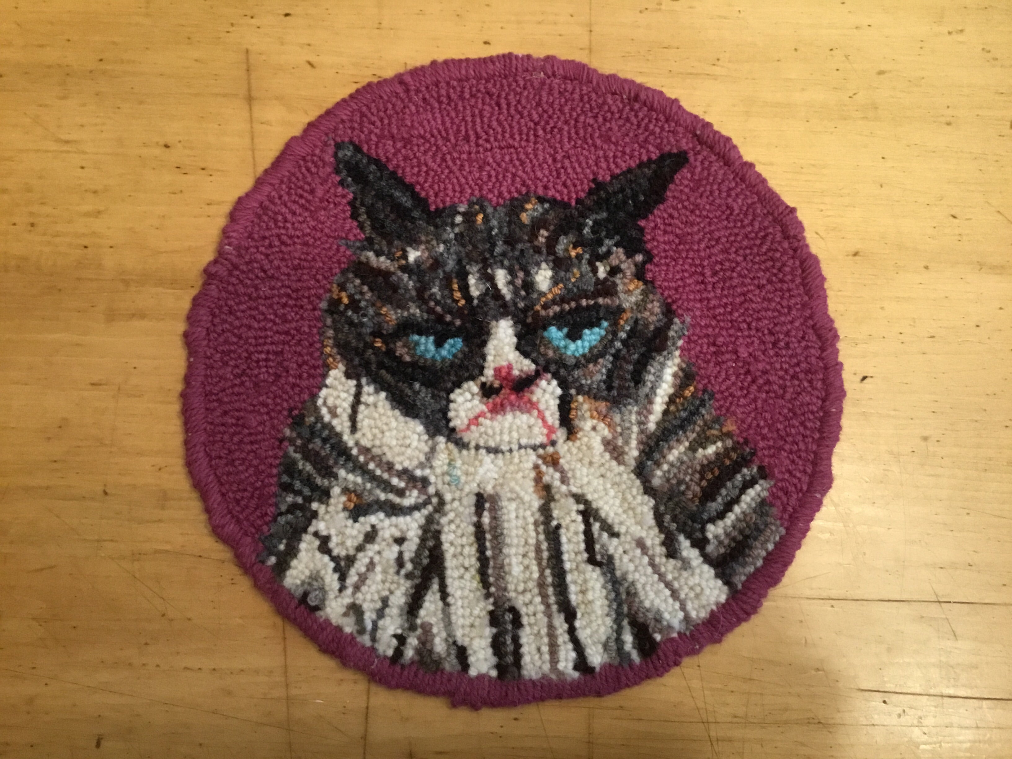 Grumpy Cat - Punched Rug