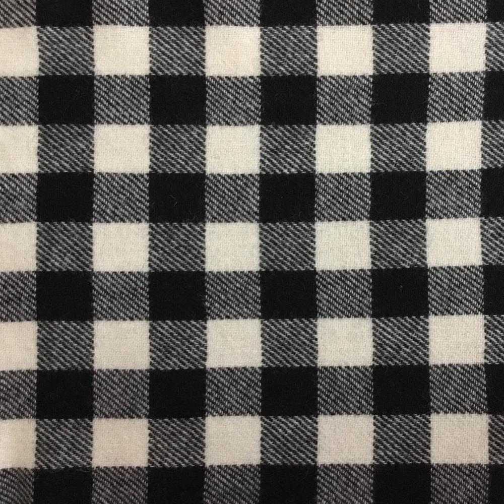 Wool Fabric  - Black & White Check