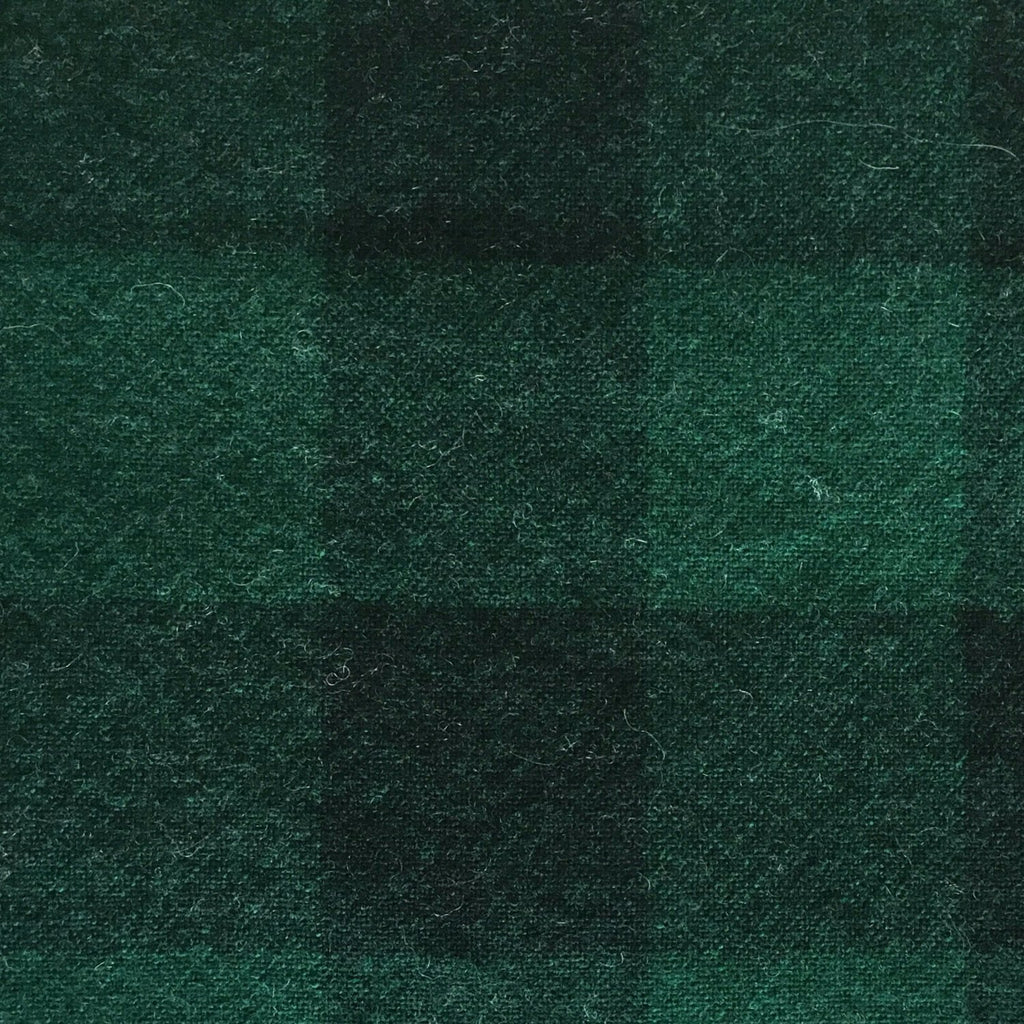 Wool Fabric - Green Plaid