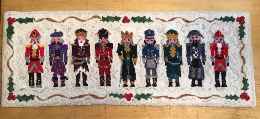 9 Nutcrackers - Punched Rug