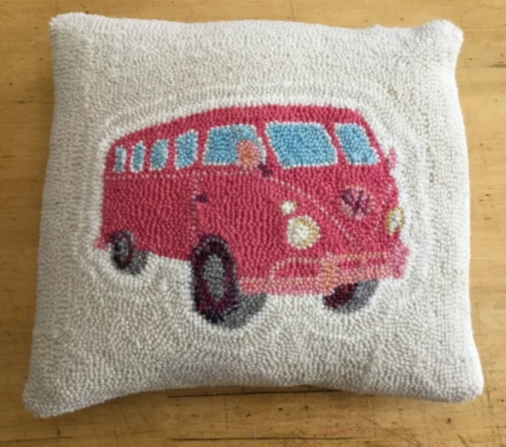 VW Rug Punched Pillow