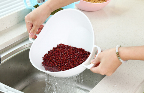 rice washing colander