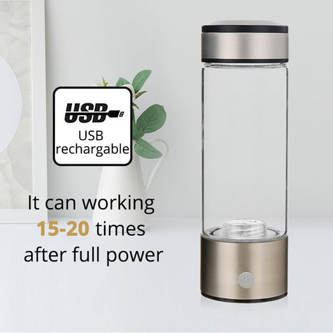rechargeable alkaline water bottle