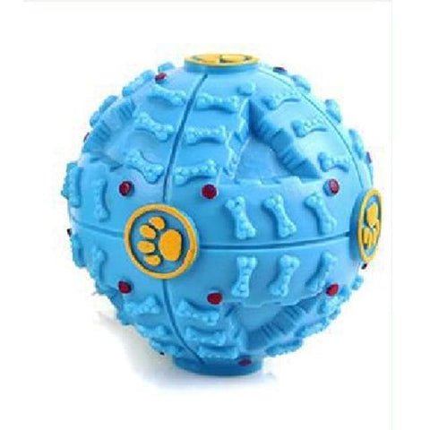 Blue Squeaky Dog Ball