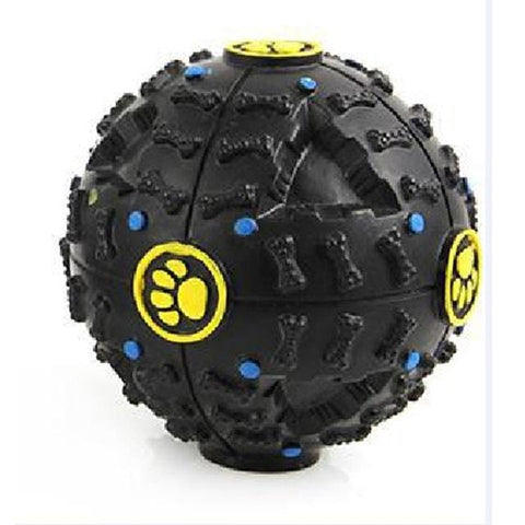 Image of Black Squeaky Dog Ball