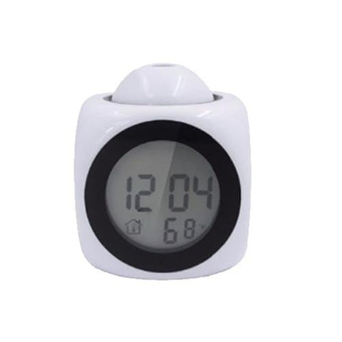 White Projection Alarm Clock