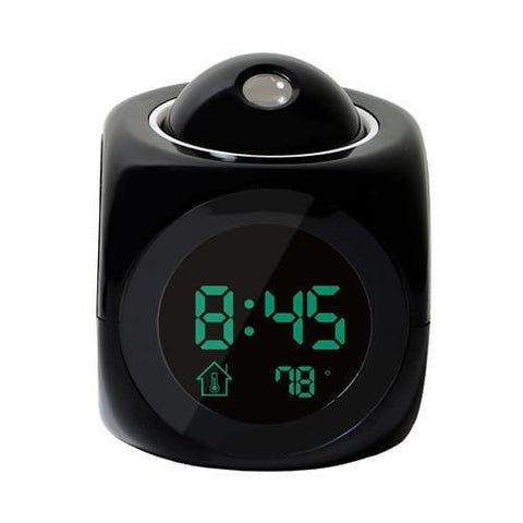 Black Projection Alarm Clock