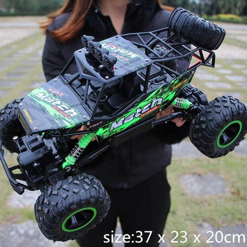 Image of Black and Green RC Truck
