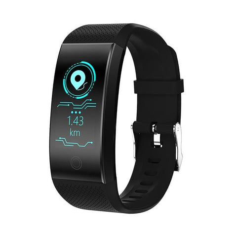 Black Waterproof Fitness Watch with Activity Tracker