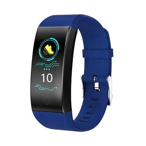 Blue Waterproof Fitness Watch with Activity Tracker