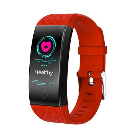 Red Waterproof Fitness Watch with Activity Tracker