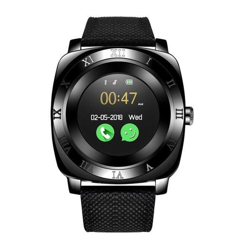 Image of Black Classic Smart Watch for Men with Activity Tracker