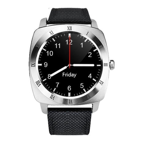 Image of Silver Black Classic Smart Watch for Men with Activity Tracker