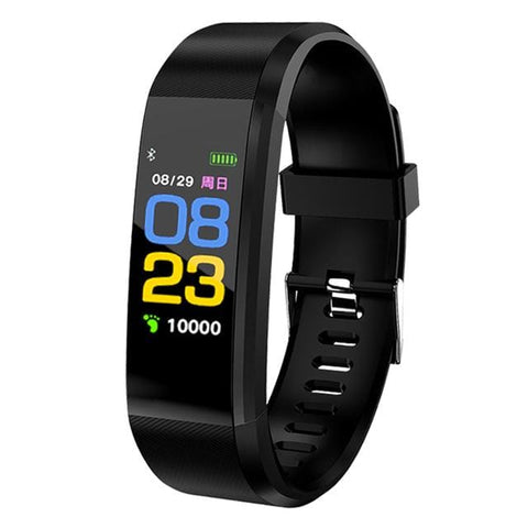 Black Sport Watch Fitness Tracker with Activity Tracker