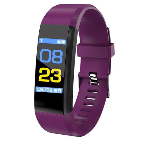 Purple Sport Watch Fitness Tracker with Activity Tracker