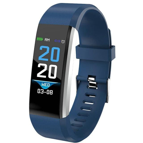 Dark Blue Sport Watch Fitness Tracker with Activity Tracker