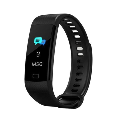 Black Sports Mode Fitness Watch with Activity Tracker