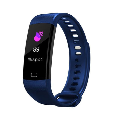 Dark Blue Sports Mode Fitness Watch with Activity Tracker
