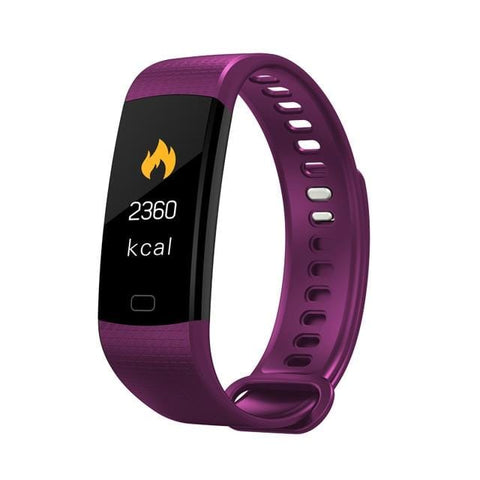 Purple Sports Mode Fitness Watch with Activity Tracker