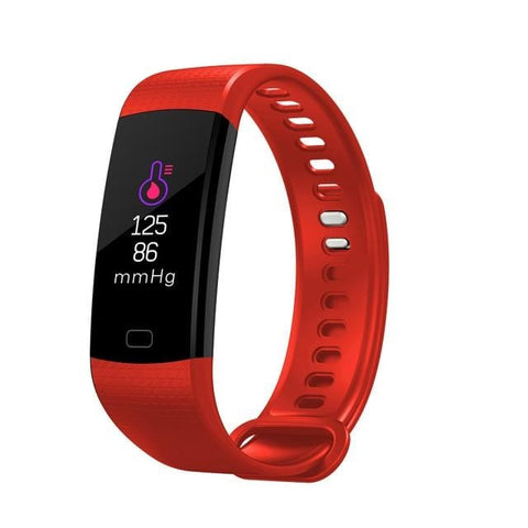 Red Sports Mode Fitness Watch with Activity Tracker