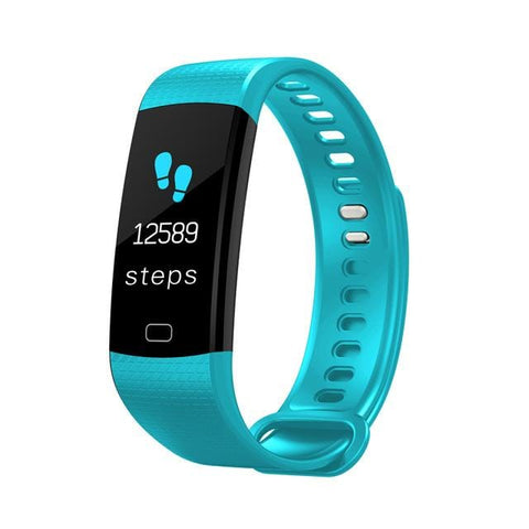 Light Blue Sports Mode Fitness Watch with Activity Tracker