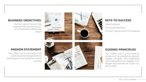 Cafe Business Plan Powerpoint Template