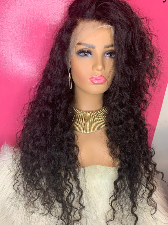 """Janay"" Unit: 26"" Loose Deep Wave Custom Lace Frontal Wig - Instant Beauty Hair"