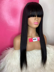 """Kimmy Unit"": 20"" Straight Bang Wig - Instant Beauty Hair"
