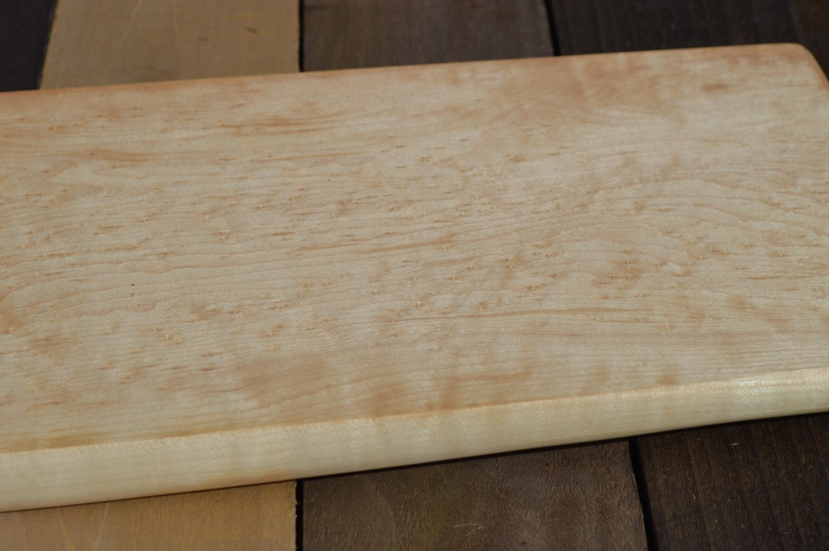Birds-Eye Maple Hand-Carved Cutting Board