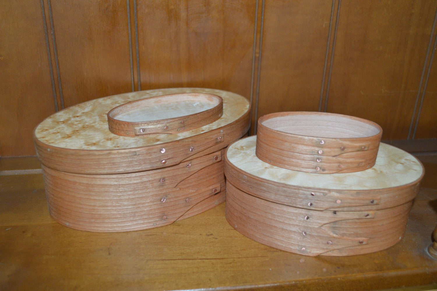 Shaker Oval Boxes