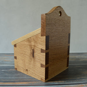 Dovetailed Salt Box and Spoon