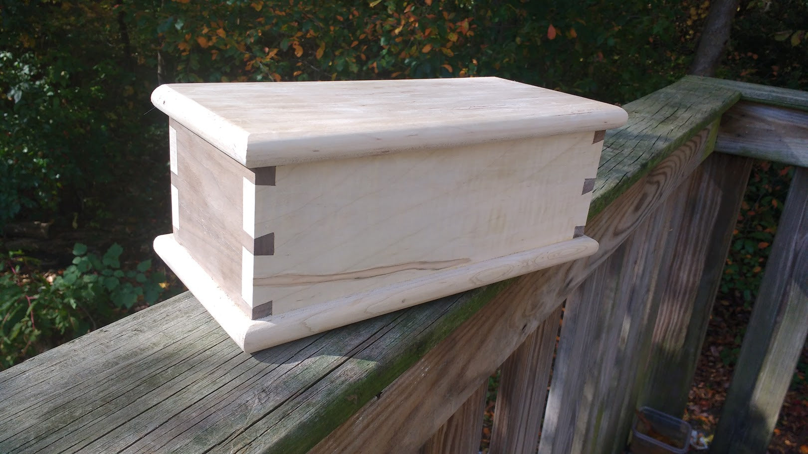 Maple and Walnut Shaker Candle Box