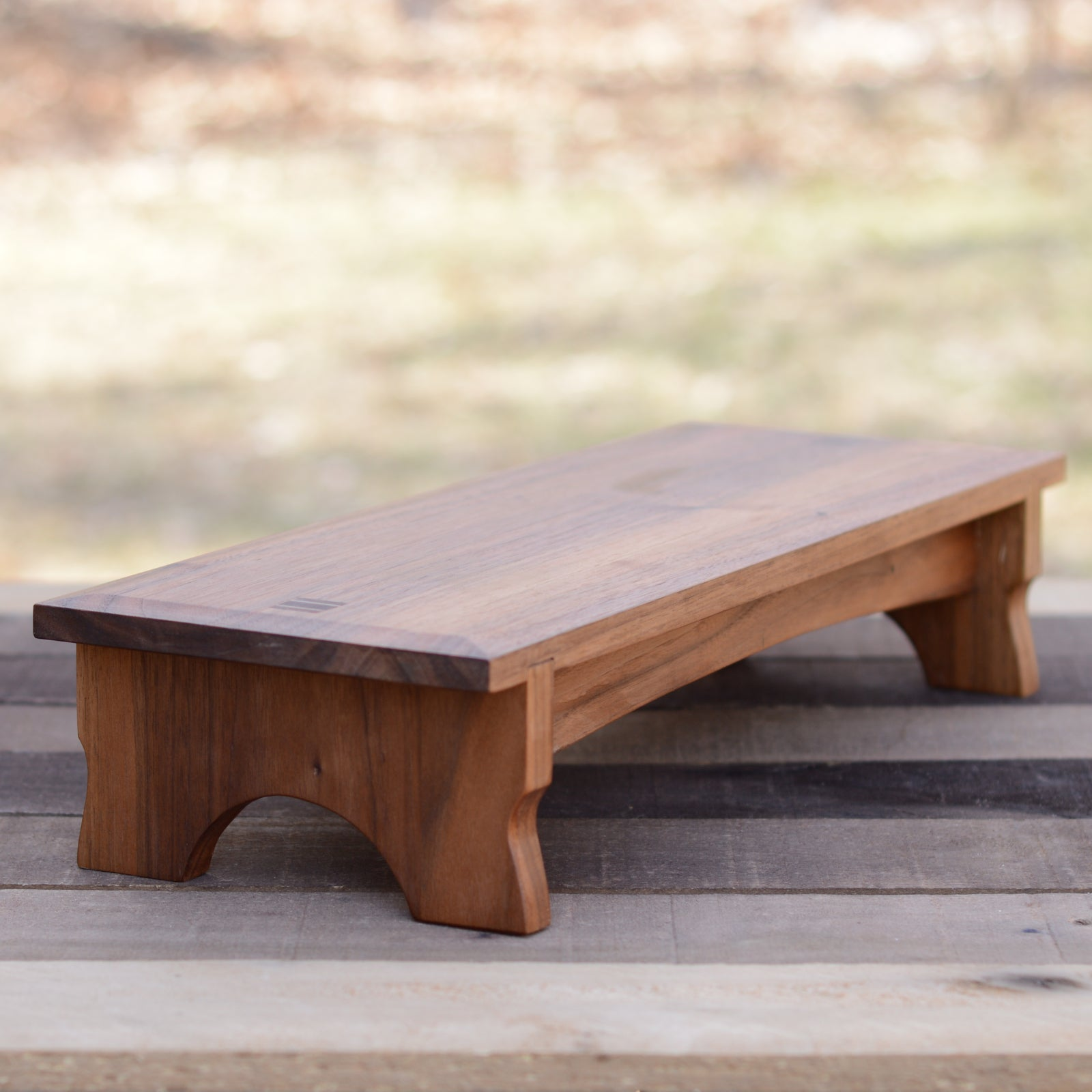 Bedside Kneeler / Prie Dieu in Walnut