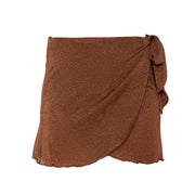 Salinas mini wrap skirt in Cinnamon