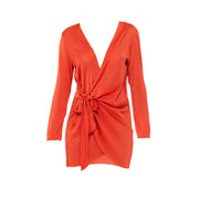 Madeira Wrap dress in Campari