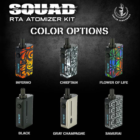 Squid Industries Squad 1300MAH 30W POD w/ Squad RBA Atomizer KIT