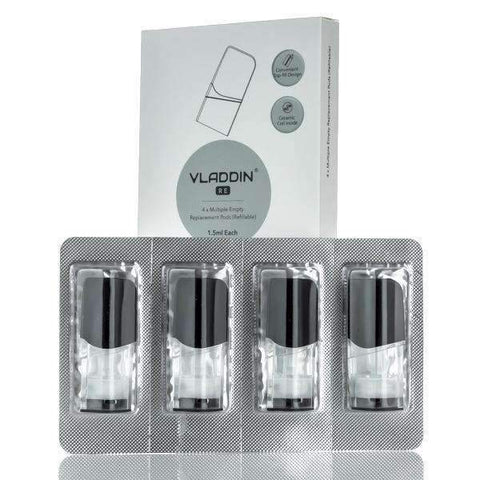 VLADDIN Vapor Replacement Refillable 1.5ML Pod Cartridge - 4 Pack - 1.3OHM